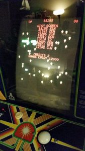 The bottom 3 inches or so are missing. That's a problem in Centipede!