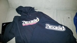 First printing Zencade T-shirt and Hoodie.