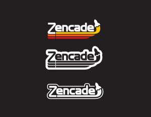 The three versions of the Zencade logo.